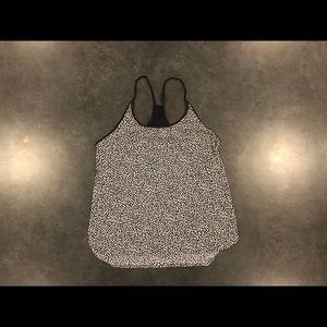 Lulu Lemon - Black/White workout tank